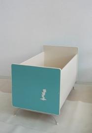 Kinderbedje / ledikant– vintage-blue - jaren 50/60