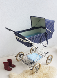 Retro kinderwagen – Denim - vintage