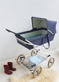 Retro kinderwagen – Denim - vintage
