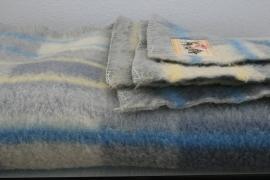 100% wollen deken van Aabé – pastelkleuren -1- vintage