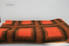 100% wollen deken van Van Wijk – retro vintage