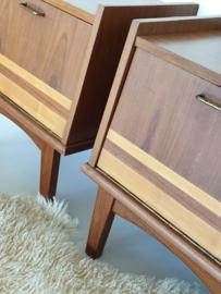 Set nachtkastjes – 25 – vintage