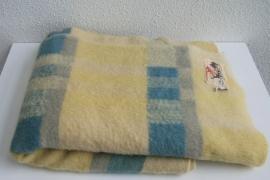 100% wollen deken pastelkleuren– merk Aabé – vintage