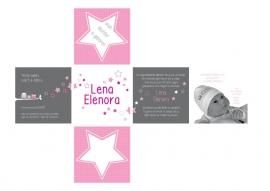 Geboortekaart ontwerp kubus