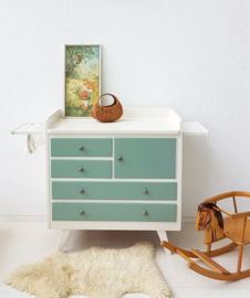 Vintage – jaren 60 commode - celadoon - 20 - restyle