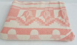100% wollen deken – oudroze – vintage – nr 15