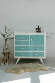 Vintage blue – fifties  - commode – restyle