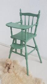 Kinderstoel groen – tafelmodel – 6  - vintage