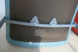 Stoel Artifort - Channel Slede in zacht blauw leer
