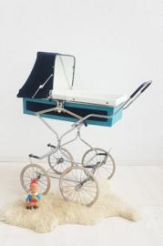 Retro kinderwagen / reiswieg – Blue - vintage