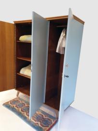 Vintage – driedeurs kledingkast Wolk –34 - restyle