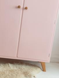 Vintage – tweedeurs babykamer kast Blos – 58 - restyle