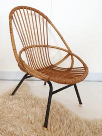 Peuter stoel van rotan - vintage - 01