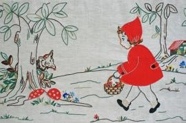 Vintage wandpaneel Roodkapje