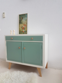 Vintage – sixties dressoir / commode 9 – celadoon – restyle