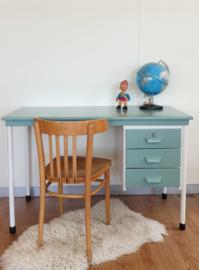 Vintage houten bureau - Celadoon – 4 - restyle