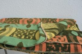100% wollen deken – pastelkleuren – vintage