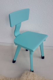 Schoolstoel peuter – hout – vintage blue