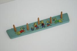 Vintage kapstokje met print - 3