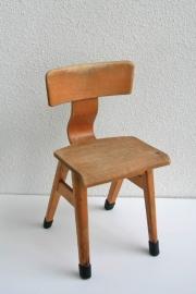 Kinderschoolstoel hout voor kleuter - 1 - vintage