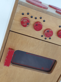 Retro kinderspeelgoed fornuisje van hout - 02