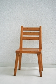Peuter stoeltje – hout met spijlen - vintage