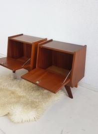Set nachtkastjes – 14 - vintage