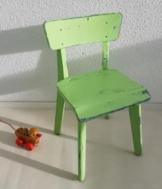 Peuter school stoeltje – hout - mintgroen