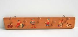 Kapstok kinderkamer - hout met print – vintage