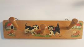 Vintage kapstokje met dierenprint - 4