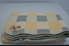 100% wollen kinderledikant deken van Aabé – pastelkleuren – vintage