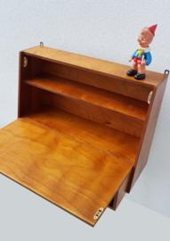 Vintage hang bureau met klep