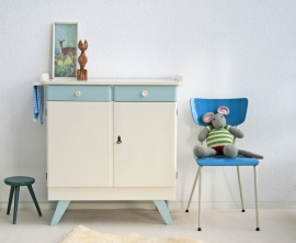 Commode met ophangrekje - vintage-blue – sixties
