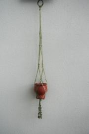 Retro Plantenhanger met 2 kleuren - groot formaat