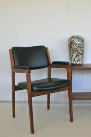 Eetkamer stoel met armleuningen - vintage