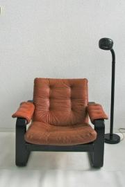 Leren fauteuil - retro