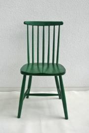 Spijlenstoel groen – retro vintage