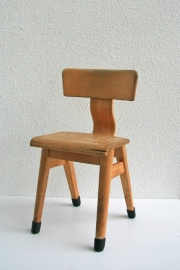 Kinderschoolstoel hout voor kleuter - 2 - vintage
