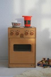 Retro kinderspeelgoed fornuisje van hout - 1
