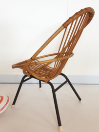 Peuter stoel van rotan - vintage - 02