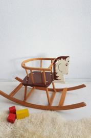 Vintage houten hobbelpaard - 06