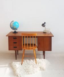 Sixties houten bureau - vintage