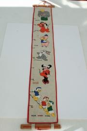 Vintage geborduurde meetlat – 1 – Disney