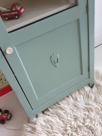 Klein maar fijn boekenkastje / vitrinekastje – vintage
