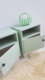 Set nachtkastjes 'Spruit'– 15 – vintage restyle