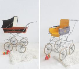 Retro kinderwagen + wandelwagen - MEKIWA - vintage