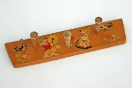 Vintage kapstokje met kabouterprint - 2