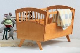 Vintage houten baby ledikantje - ROHE