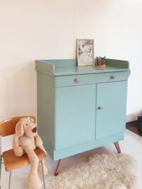 Vintage – jaren 60 set: commode + kast – Celadoon- nr. 67 – restyle