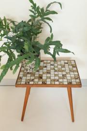Plantentafeltje mozaïek – vintage